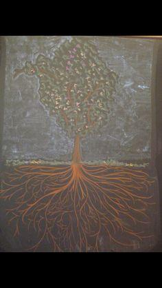 Fantasy drawing, Tree