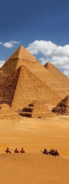 The Giza pyramid complex, Giza Plateau, Egypt