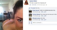 Hot college chick facebook fails lol
