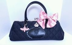 My Flat in London by Brighton Queen Bee Purse with Pink Bow  #Brighton #Satchel