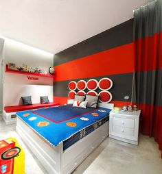Bedroom Murals – Stripes Murals for Simple Painting - Best Wall ...