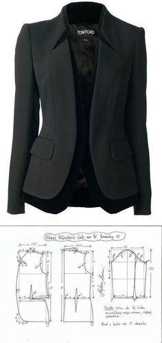 Jacket for women...<3 Deniz <3 Jacket Sewing Patterns, Diy Clothes Patterns, Coat Pattern Sewing, Bra Pattern, Collar Pattern, Pattern Dress, Pattern Drafting, Blazer Pattern, Coat Patterns