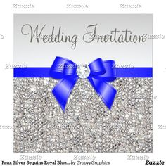 267 Best Silver Wedding Invitations Images In 2019 Silver