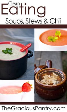 Clean eating chili and soups. Can't wait to make these this fall/winter!