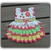 Baby Girl newborn crochet ruffle dress