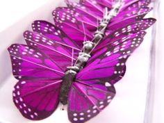 12 Feather Butterflies for Hair Pins Favors by beautifulbliss, $14.95