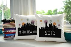 Happy New Years 2015 Pillows - Celebrate in style!
