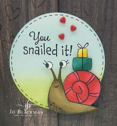 JoBlackman.com: Inpire.Create.Challenge #082 - You Snailed It!... On October 3rd, June, Card Tutorials, Paper Pumpkin, Snail Mail, Catalogue, My Stamp, Stampin Up Cards, Watercolor Paper