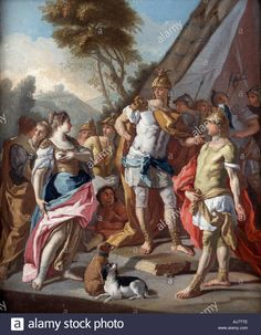 Download this stock image: Sisygambis Mistakes Hephistion Hephaestion for Alexander the Great 18th century - AJ7TTE from Alamy's library of millions of high resolution stock photos, illustrations and vectors.