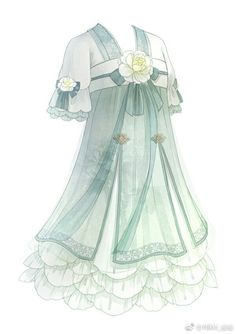 Dress Drawing, Drawing Clothes, Anime Outfits, Cool Outfits, Vestidos Anime, Anime Dress, Fashion Design Sketches, Character Outfits, Costume Design