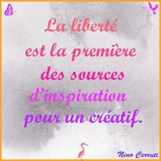 La source d'inspiration de Nino Cerruti est la liberté et vous, quelle est votre source d'inspiration ? http://www.perlesandco.com/