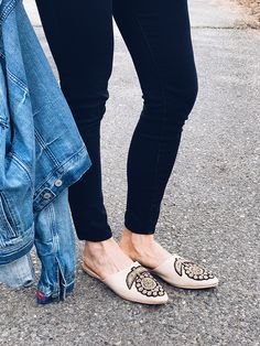 Embellished flat mules via Honestly WTF