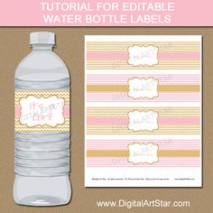 Diy Printable Water Bottle Labels Oz  Oz X Oz