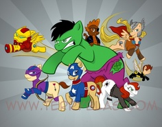 My Little Pony / The Avengers by Terry Blas