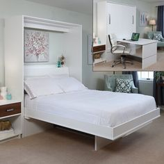 Decorate your room in a new style with murphy bed plans Queen Murphy Bed, Murphy Bed Desk, Murphy Bed Plans, Modern Murphy Beds, Student House, Upholstered Platform Bed, Decorate Your Room, Bed Sizes, My New Room