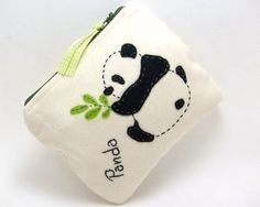 PRETTY PANDA  Canvas pouch