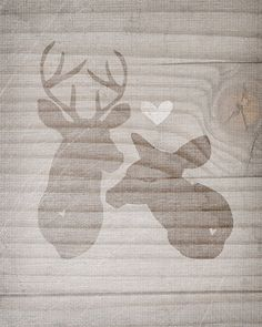 Young Love Deer Couple by vol25 on Etsy, $24.00 - Love this! Awesome job Jessica!