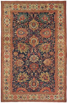 Late 19th Century 120-year-old antique Sultanabad rug from west central Iran, 7ft 2in x 11ft.