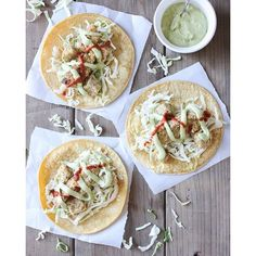 Baked Cauliflower And Potato Tacos With Dill Cream
