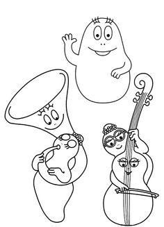 Barbapapas Art & Music-themed Colouring Pages Colouring Pages, Coloring Pages For Kids, Job Pictures, Music Party, Music Education, My Children, Children Music, Creative Kids, Art Music
