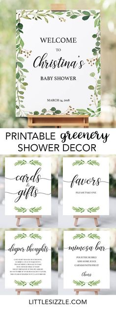 Greenery baby shower