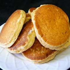 Eggnog Pancakes (add more milk, add a couple dashes of cinnamon and nutmeg to batter)