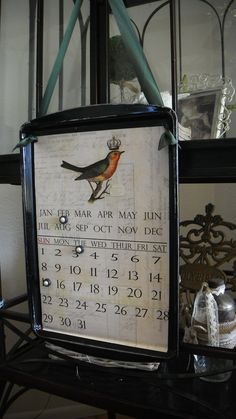 Shabby French Chic Magnetic Perpetual Calendar made by takintime, $29.99