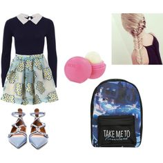 Back To School Outfit #3!!!! by merima2002 on Polyvore featuring RED Valentino, Valentino, Disney, Eos, women's clothing, women's fashion, women, female, woman and misses
