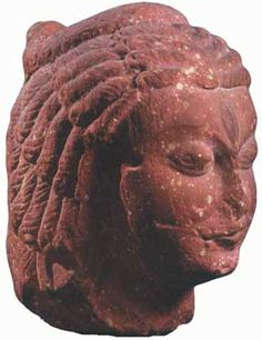 This head of Shiva is made from the mottled red sandstone local to Mathura in northern India. It was produced during the Gupta period (c.350-550 AD). Ashmolean Museum, Oxford.