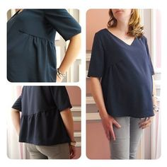 blouse-babybumpcomptible-1 Couture, One Shoulder, Sewing, Blouse, Tops, Women, Fashion, 6 Months, Pregnant Wife