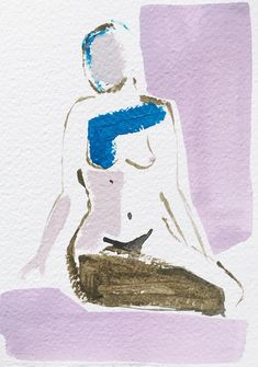 """""""Mini Nude XXV"""" painting by NG Collective Studio #painting #UpriseArt"""