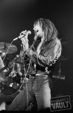 Lord have mercy! Steve Perry with strategically placed laces.