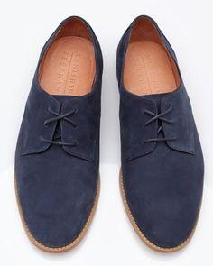 4701dd9c355 Verndale Nubuck Derby by Vanishing Elephant Blue Suede Shoes