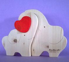 puzzle in legno elefanti con cuore san valentino festa degli puzzle in legno elefanti con cuore legno traforo