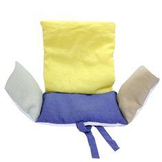 Coussin de chaise haute en Lin multicolore 2 - Lab