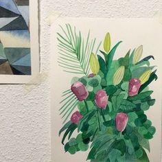 Quedan ya dos días para el #mercadocentraldiseño, de momento #Activate2015 #illustrator #ilustracion #illustration #nature #flores #flors #flowers #watercolor #acuarela #draw #art #drawing #paint #instaart #instaartist #artoftheday #sabinaalcaraz.com