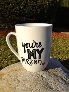 You're My Person. Grey's Anatomy Inspired Mug. by TheHomemadeHipster on Etsy