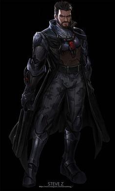 Reaper, Overwatch<< soldier actually Overwatch Drawings, Overwatch Fan Art, Cyberpunk Character, Cyberpunk Art, Character Inspiration, Character Art, Character Design, Character Ideas, Overwatch Reaper