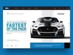 Ford Mustang Shelby Concept and product page header. Ui Ux Design, Ad Design, Layout Design, Interface Design, Graphic Design Brochure, Mobile Web Design, Presentation Layout, Ford Mustang Shelby, Ui Web