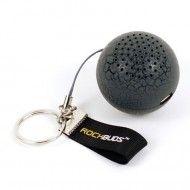 chicBuds rockBoom Keychain Speaker Ball/Gray Crackle
