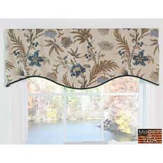 Set includes: M-shaped lined valance  Pattern: Traditional floral pattern on a natural background  Color options: Floral