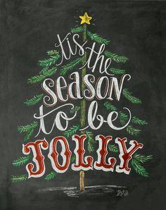 Tis the Season Sign - Chalk Art Print - Christmas Chalkboard Art - Holiday Decor - Christmas Tree Art - Rustic Holiday Art by LilyandVal Merry Christmas Quotes, Christmas Signs, Christmas Holidays, Happy Holidays, Holiday Sayings, Xmas Quotes, Christmas Budget, Christmas Fonts, Pallet Christmas
