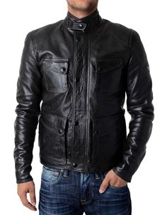 Matchless - Silverstone Leather Jacket - Antique Blk | Accent Clothing
