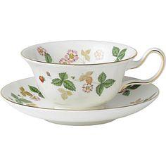 Wedgewood Wild Strawberry teacup - the peony shape