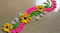 Beautiful Border Rangoli Designs for Doors & Side Wall, बॉर्डर रंगोली डिज़ाइन Easy Rangoli Designs Diwali, Rangoli Simple, Indian Rangoli Designs, Simple Rangoli Designs Images, Rangoli Designs Latest, Rangoli Designs Flower, Free Hand Rangoli Design, Rangoli Border Designs, Small Rangoli Design