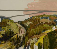 © Guy Maestri ~ The Bridal Track ~ 2011 oil and enamel on linen at Tim Olsen Gallery Sydney Australia
