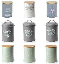 Set of 3 Vintage Shabby Chic Tea Coffee Sugar Kitchen Storage Jars Pot Container in Home, Furniture & DIY, Cookware, Dining & Bar, Food & Kitchen Storage   eBay