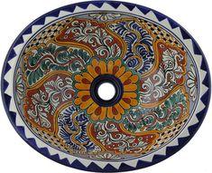 Mexican Tile - Mexican Talavera Sink - Veracruz