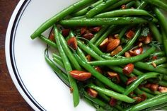 Haricot verts with toasted almonds, mint, and lemon -- a 4-minute side dish from Dinner: A Love Story!