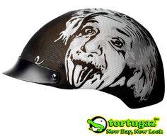 Tortugaz™ Universal DOT Motorcycle Bike Helmet Cover Protector Albert Einstein